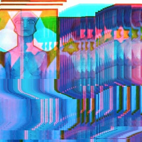Evolution.  Piet Mondrian. Art Icon Glitch //4