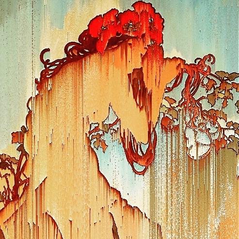 Summer. Alfons Mucha. Art Icon Glitch //5